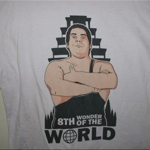 Vintage Tops - Andre The Giant Unisex Graphic Cotton Tee